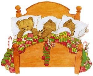 Ruth Morehead Tubes   ours qui dorment dans un lit 74
