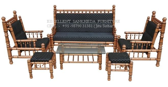 Royal Sofa Set ( copper & black )