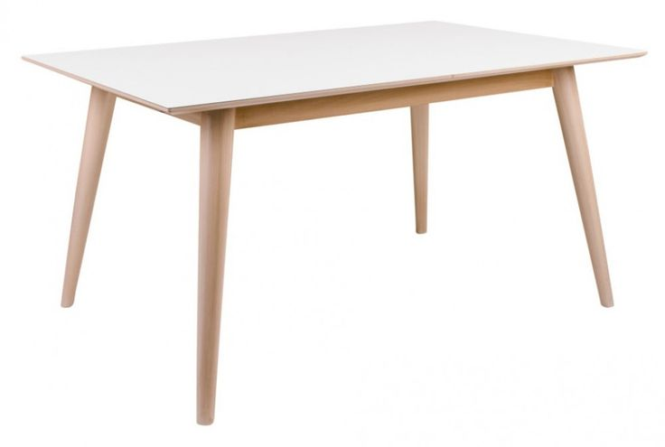House Nordic Copenhagen ruokapöytä 150x90 cm, värivaihtoehtoina valkoinen/tammi ja valkoinen/musta