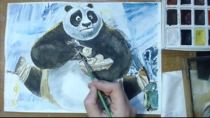 Как нарисовать Панду кунг фу.How to draw kung fu Panda.