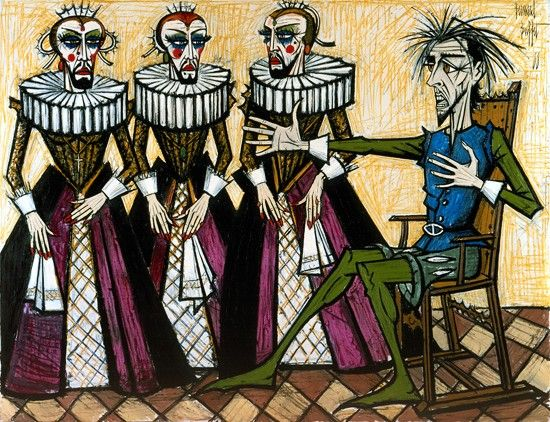 Don Quichotte: Les duegnes, 1988, Bernard Buffet