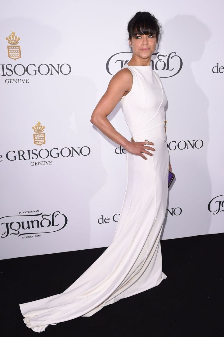 Michelle Rodriguez in a Vionnet gown.