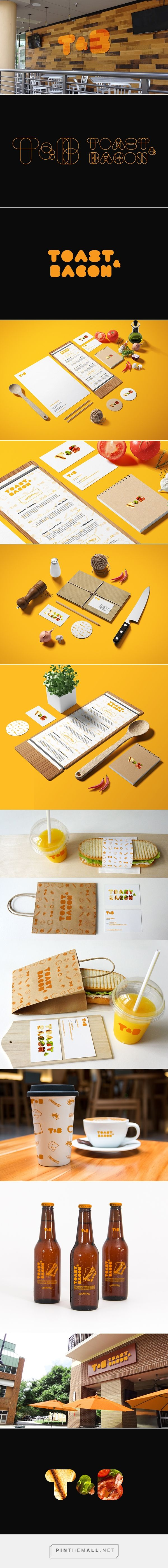Toast & Bacon Restaurant on Behance by Sebastian Bednarek curated by Packaging Diva PD. More fun lunchtime identity packaging.