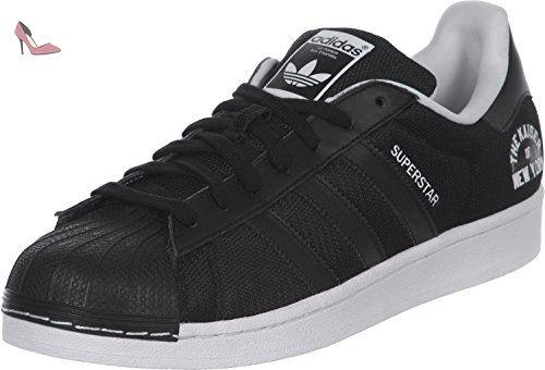 adidas Stan Smith, Sneakers Basses Femme, Noir (Core Black/Vivid Berry S14), 39.333333333333336