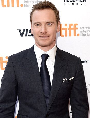 Michael Fassbender: poured into his suit