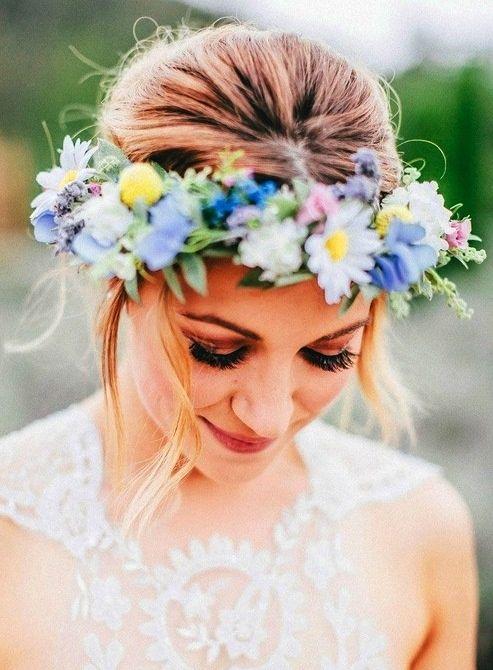 Beautiful floral wedding crown