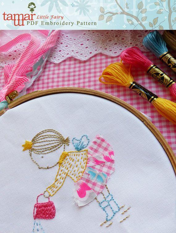 Embroidery Pattern Needlecraft Design Instant by TamarNahirYanai