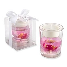 Orchid Tealight Holder FavorParty favor http://weddingshop.theknot.com/orchid-tealight-holder-favor.aspx