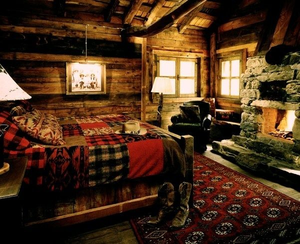 49 best images about cabin master bedroom and master bath for Hunting cabin bedroom