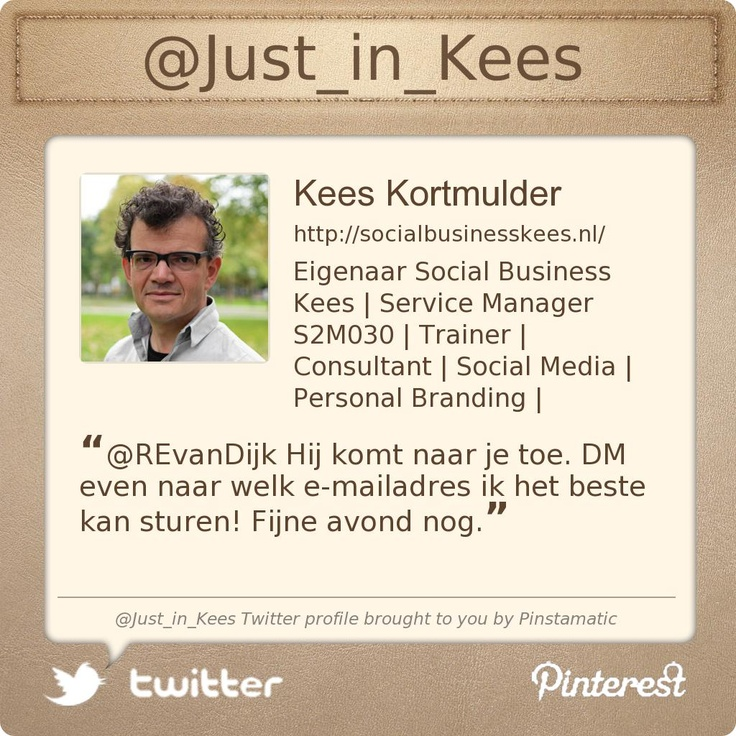 @Just_in_Kees's Twitter profile courtesy of @Pinstamatic (http://pinstamatic.com)