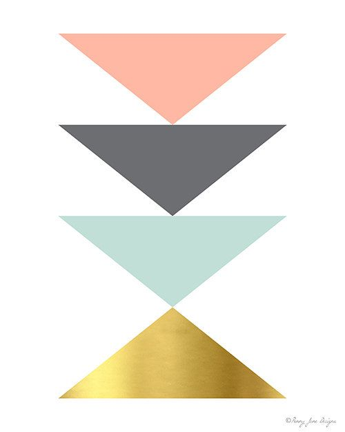 Geometric Triangle Printable Art Office Decor by PennyJaneDesign