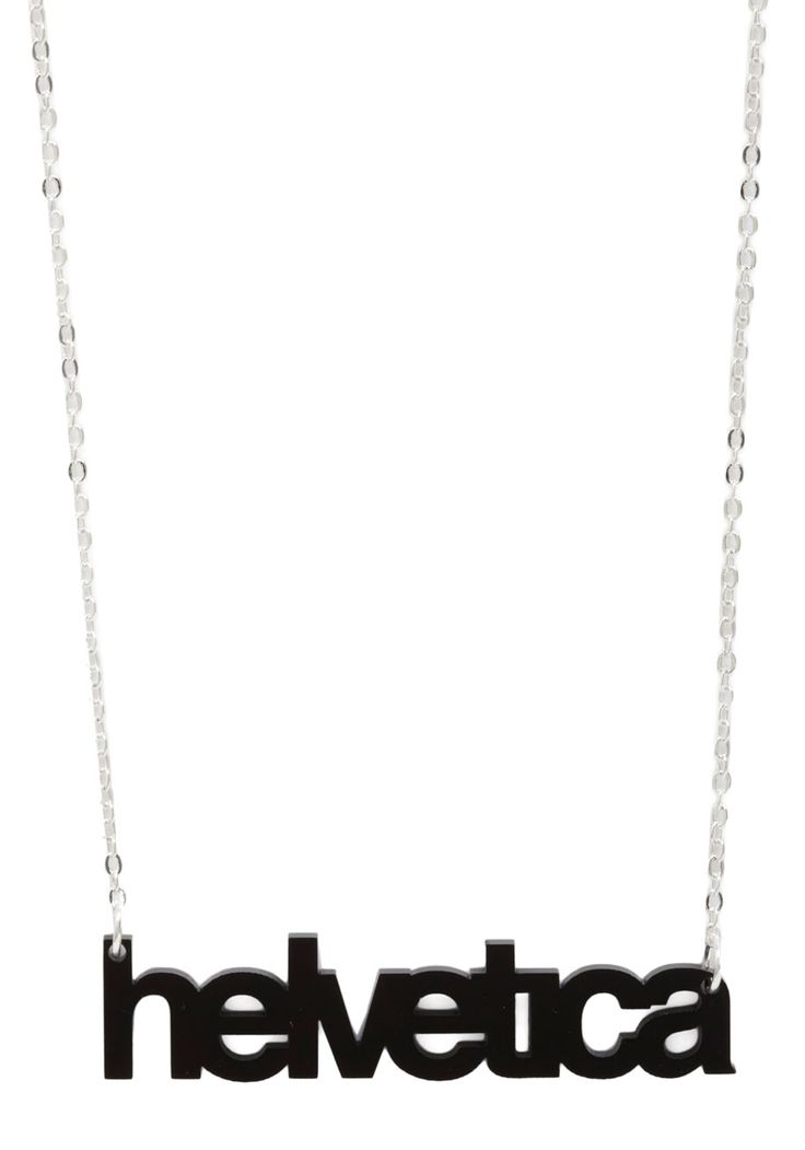 Font-tastic Necklace by Plastique - Black, Multi, Silver, Statement, Urban, Steampunk, Top Rated