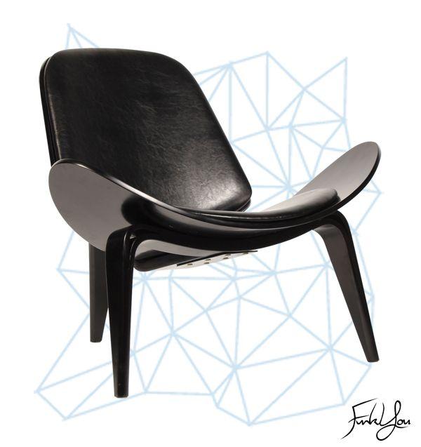 Duke Shell Chair - Black. www.funkyou.com.au