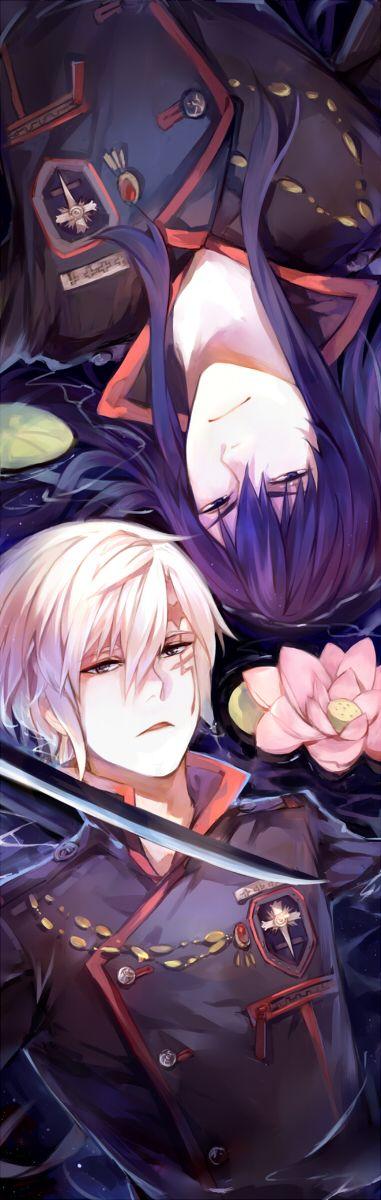 Tags: Anime, Lotus, Wet, D.Gray-man, Allen Walker, Yuu Kanda, Wet Hair