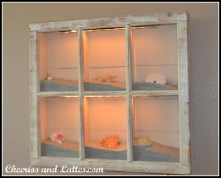 Repeat Crafter Me: Seashell Crafts. Oooooohhh!!  Could put beach glass and Japanese fishing floats in something like this!!!