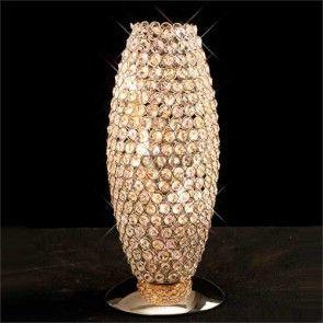 Diyas Κως 3 Light γαλλική χρυσό Κ9 κρύσταλλο επιτραπέζιο φωτιστικό IL30766