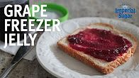 Grape Freezer Jelly - A classic Grape Freezer Jelly recipe from our vintage cookbooks reworked and updated. Our super simple recipe only has four ingredients and no grape peeling required! Learn how to make this recipe in this easy, step-by-step, how-to video. Perfect for topping breakfast and brunch toast and croissants or muffins and for making peanut butter and jelly sandwiches for lunch.