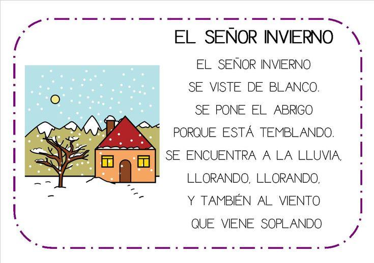 poesias infantiles el invierno - Buscar con Google