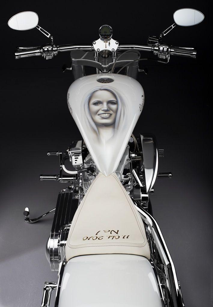 The Caroline Wozniacki custombike handbuild by Lauge Jensen Motorcycles