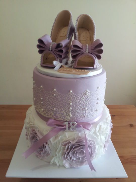 CAKE ART! ~ Gumpaste shoes cake  ~ all edible!