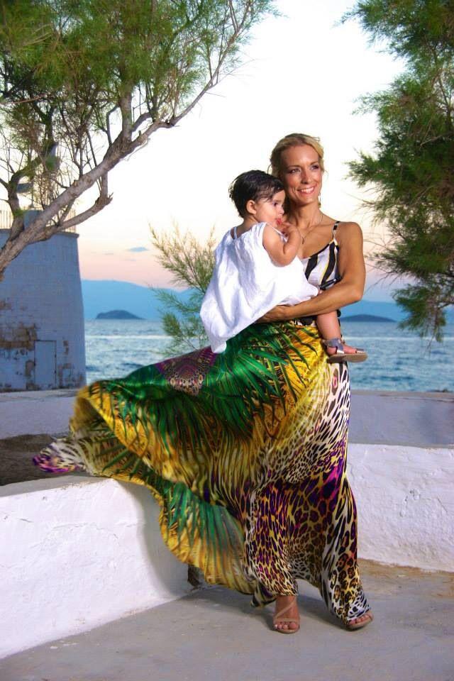Palm Spring silk skirt made to your measurment.  www.lalicalalica.com