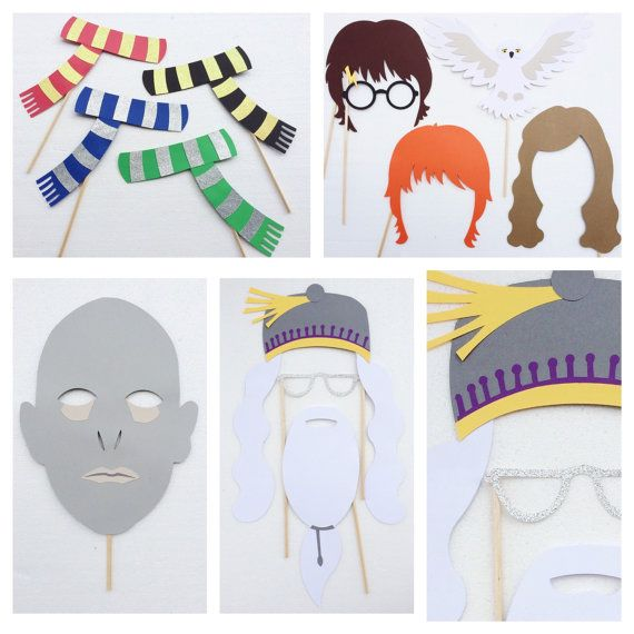 Harry Potter Birthday Party Photo Booth Props por LetsGetDecorative