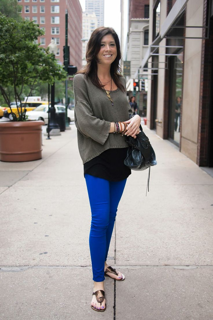#RedbookParty   Real Style: You Look Great in Cobalt Jeans! This colorful bright blue twist on jeans works on every shape and in any wardrobe. How will you wear them? #NewRedbook