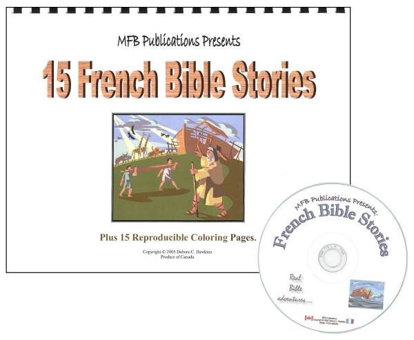 15 French Bible Stories With CD | Main photo (Cover)
