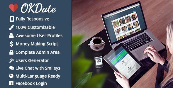 OKDate v1.9  Complete Dating Script (Desktop & Mobile Ready)