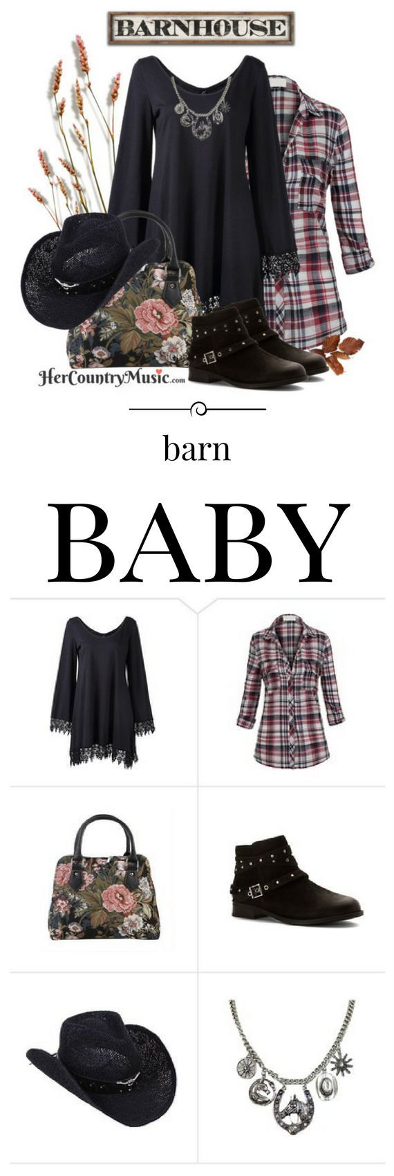 Country Music Outfits - Barn Baby. Shop the look at http://HerCountryMusic.com