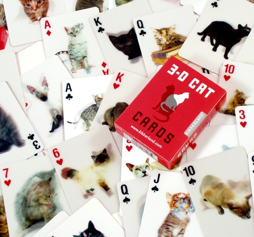 3D CAT CARDS Playing CARDS