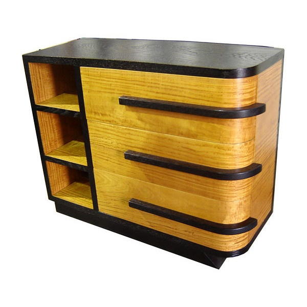 art moderne furniture. american art deco streamline asymmetrical chest modernism gallery found on polyvore moderne furniture