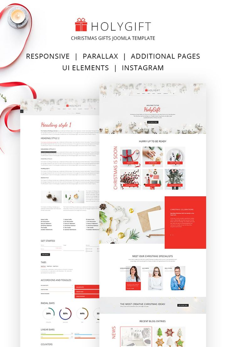 HolyGift - Christmas Gifts Store Responsive Joomla Theme Big Screenshot