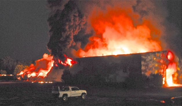 Massive fire engulfs Columbia County recycling firm; officials urge caution within 15 miles; state of emergency declared  (photo: Lance Wheeler / Special to the Times Union)