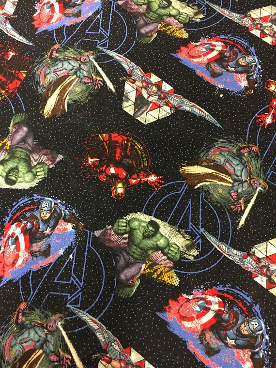 avengers fabric superhero fabric avengers print fabric by the