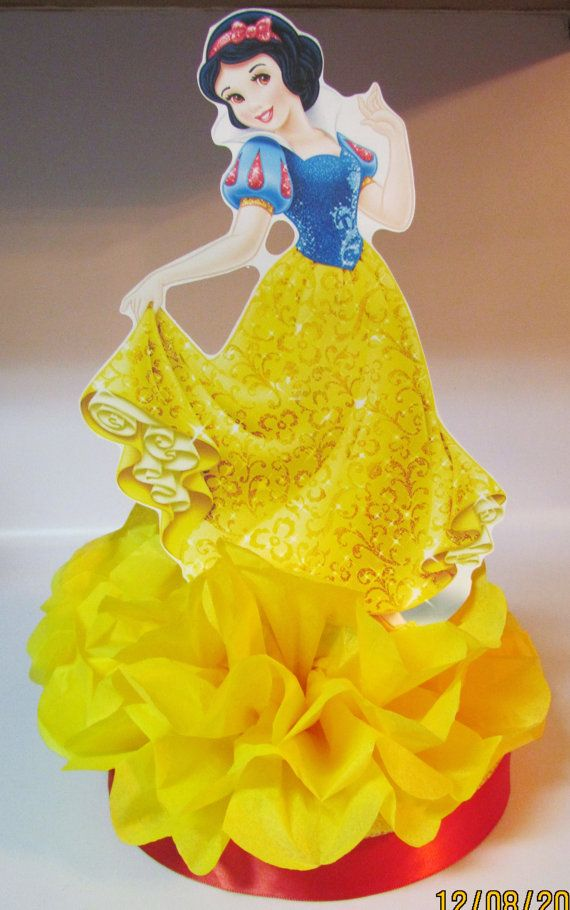 Snow White Princess Centerpiece  Disney by KhloesKustomKreation, $12.00
