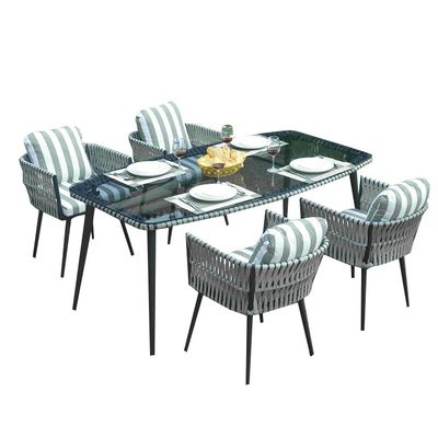 pad 1649 4 seat outdoor wicker patio and garden dinning set with rh pinterest com