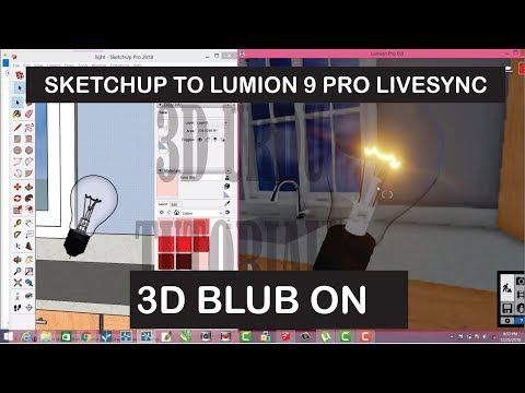 sketchup to lumion 9 pro livesync material and lights