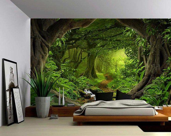 Wallpaper Wallpaper Self Adhesive Wallpaper Pvc 3d Natural Landscape Woods Forest Beautiful Sce Living Room Wall Wallpaper Wallpaper Living Room Wall Wallpaper
