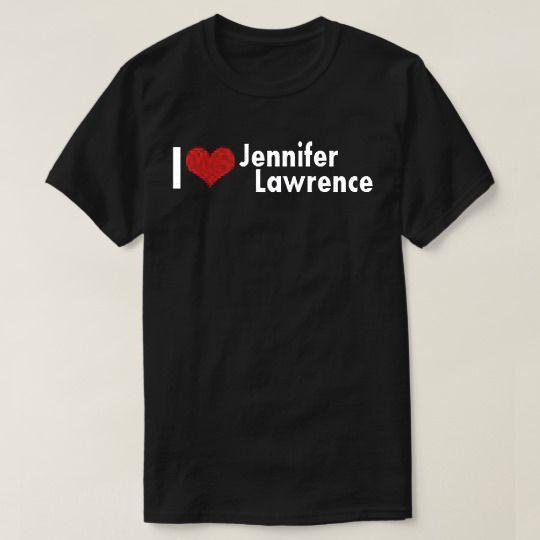I Heart Jennifer Lawrence Custom Shirts