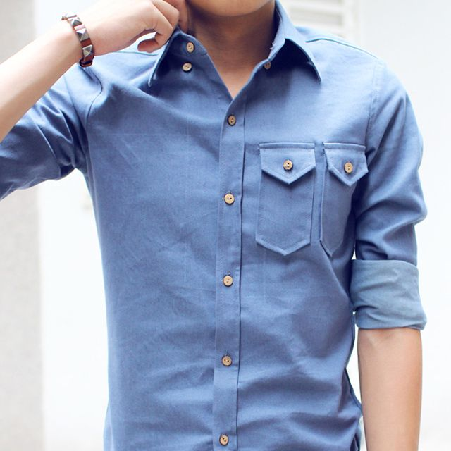 double pocket Oxford