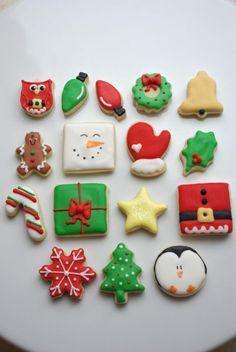 Masitas de azucar decoradas - navidad