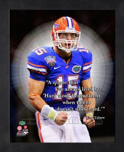 Save $15.00 on Tim Tebow Florida Gators Pro Quotes Framed 16x20 Photo #2; only $44.99