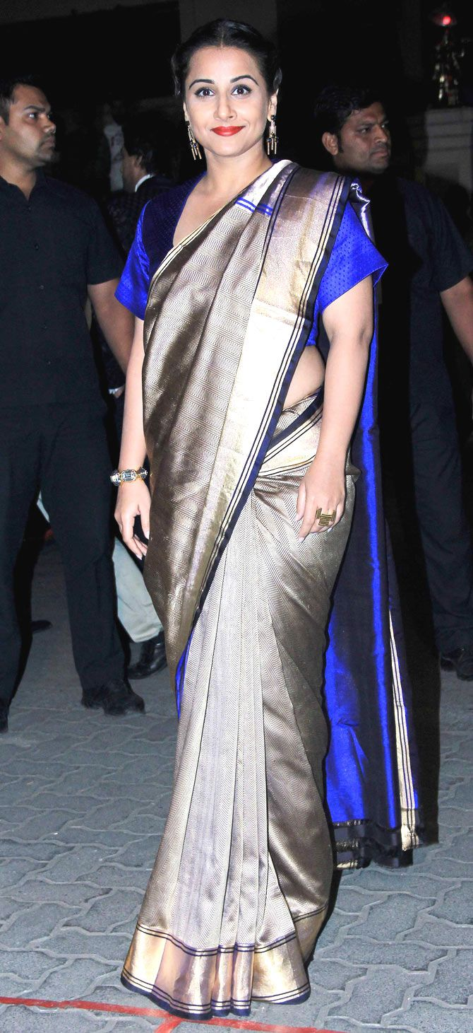 Vidya Balan arriving at the 60th Filmfare Awards 2014. #Bollywood #Fashion #Style #Beauty