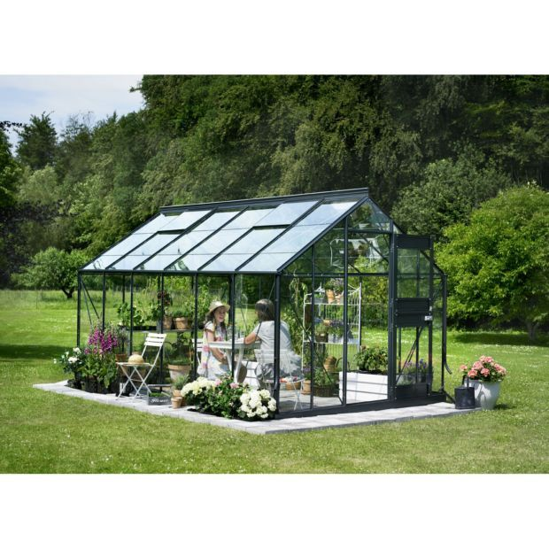 Serre Verre Horticole Junior Anthracite 12 1 M Embase Juliana Serre Jardin Maison Verte Jardins