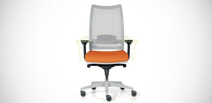 Sedia per Ufficio ergonomica in Rete Overtime di Luxy Design