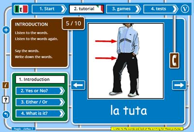 Learn Italian games, lessons   tests free online web app | fun learn Italian website for kids   adults