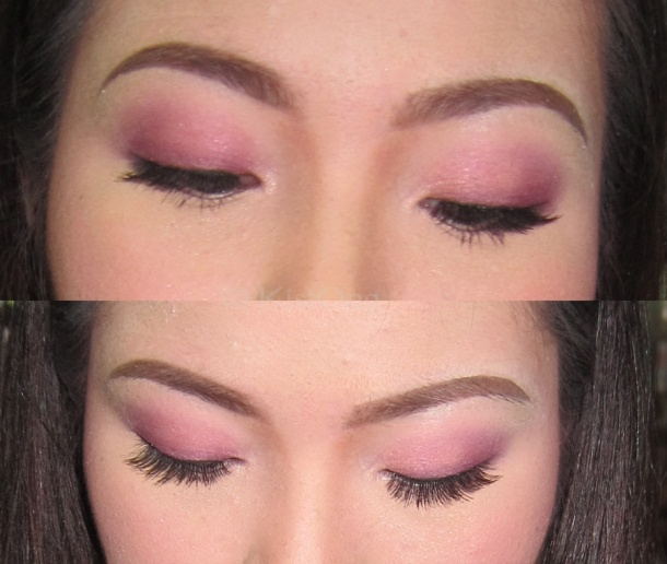 Pink, summery, light smoky eyes for Sabrina Orial.