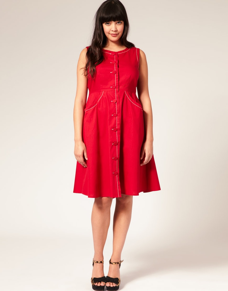 Fun shape!: Asos Com, Red Stuff, Dresses Up, Red Dresses, Asos Curves, Sweet Dress, Style Pinboard, Dresses Bad, Fashion Stuff