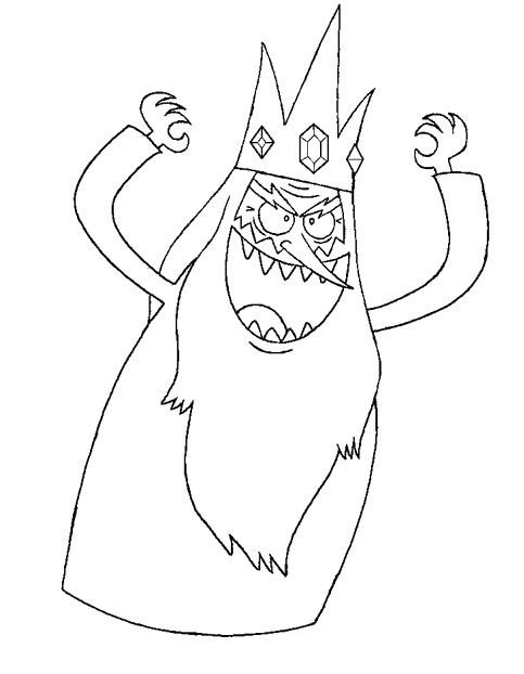 Adventure Time Ice King Evil Coloring Pages